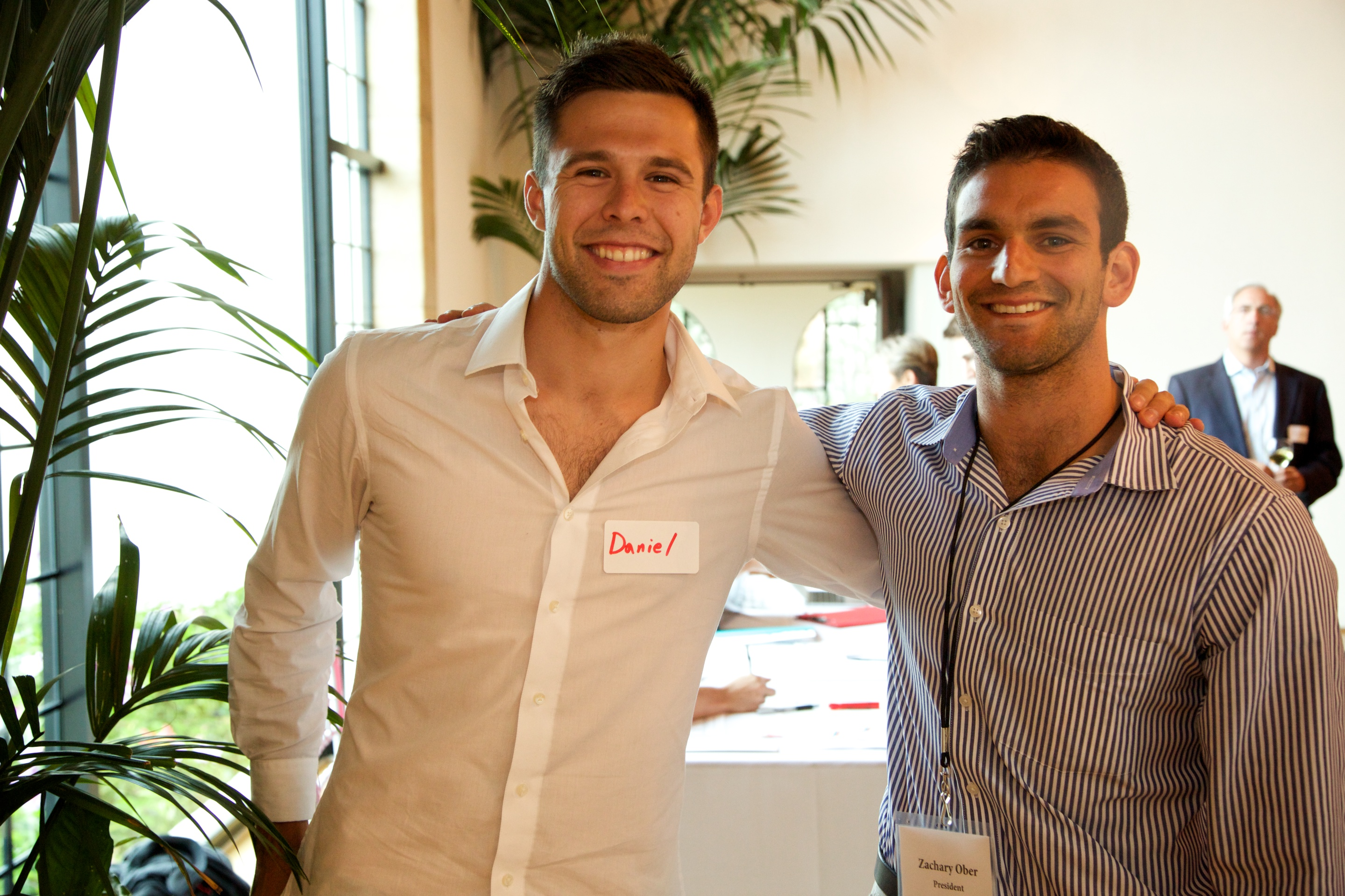 Two Entrepreneurs at Mentorship Works Networking Event