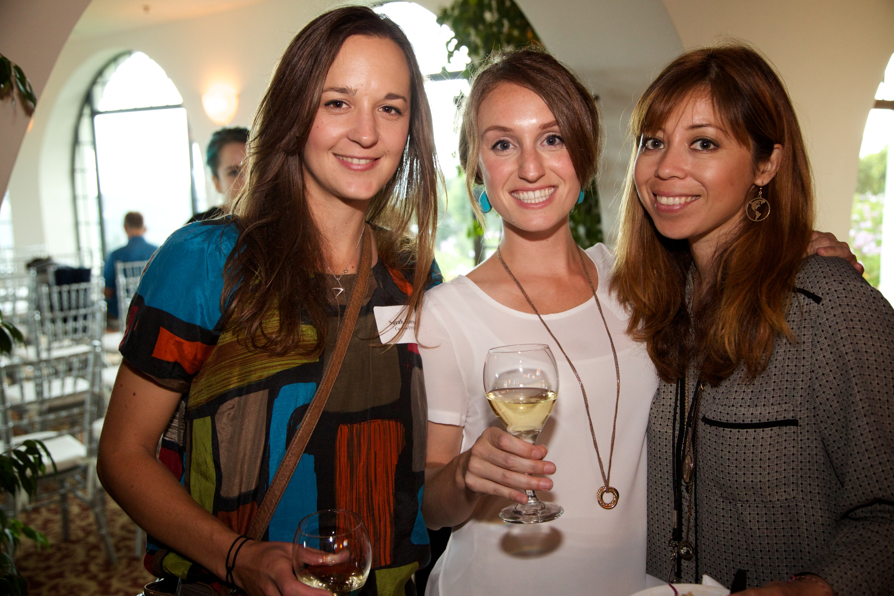 Three Entrepreneurs at Mentorship Works Networking Event