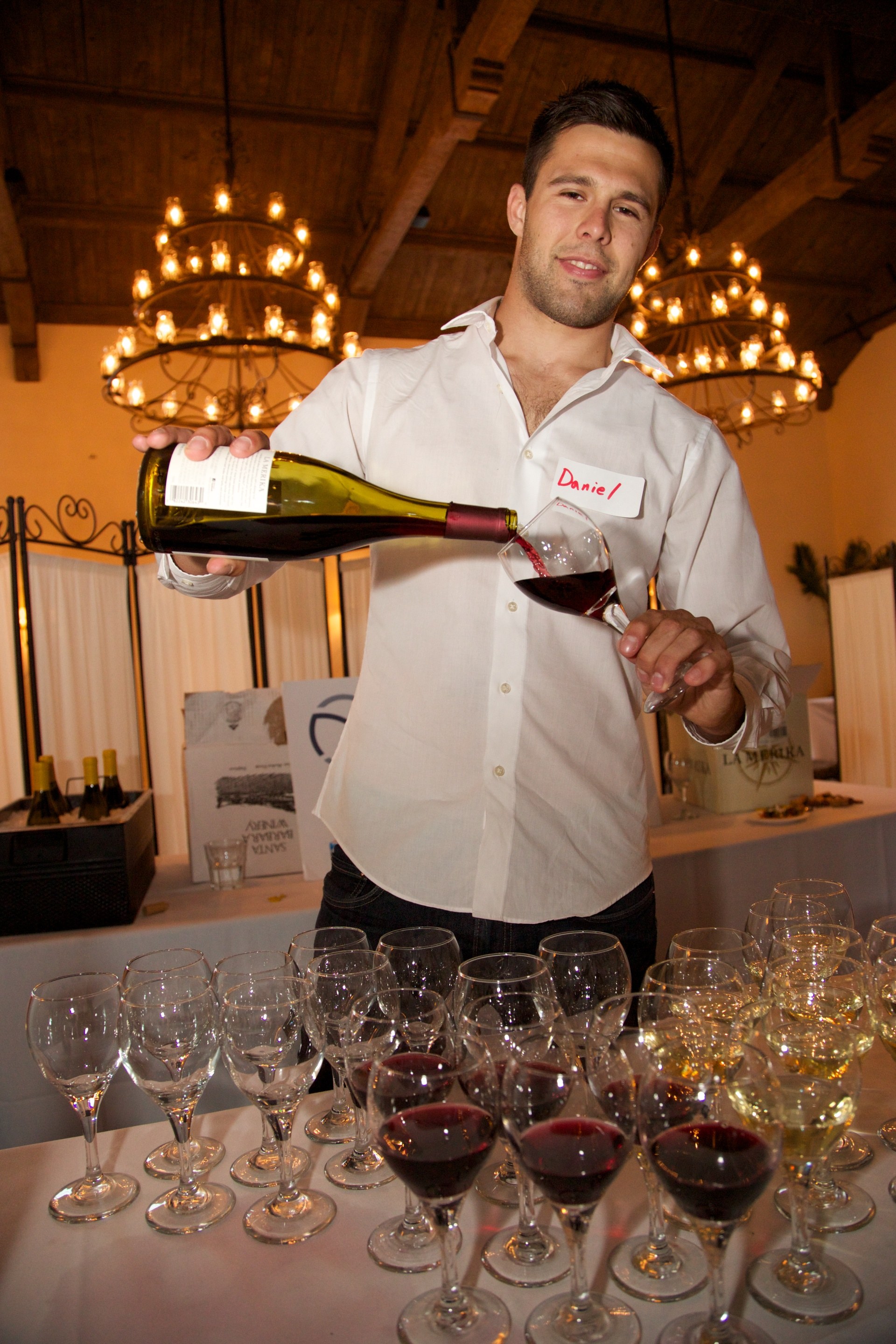 Man Serving Wine