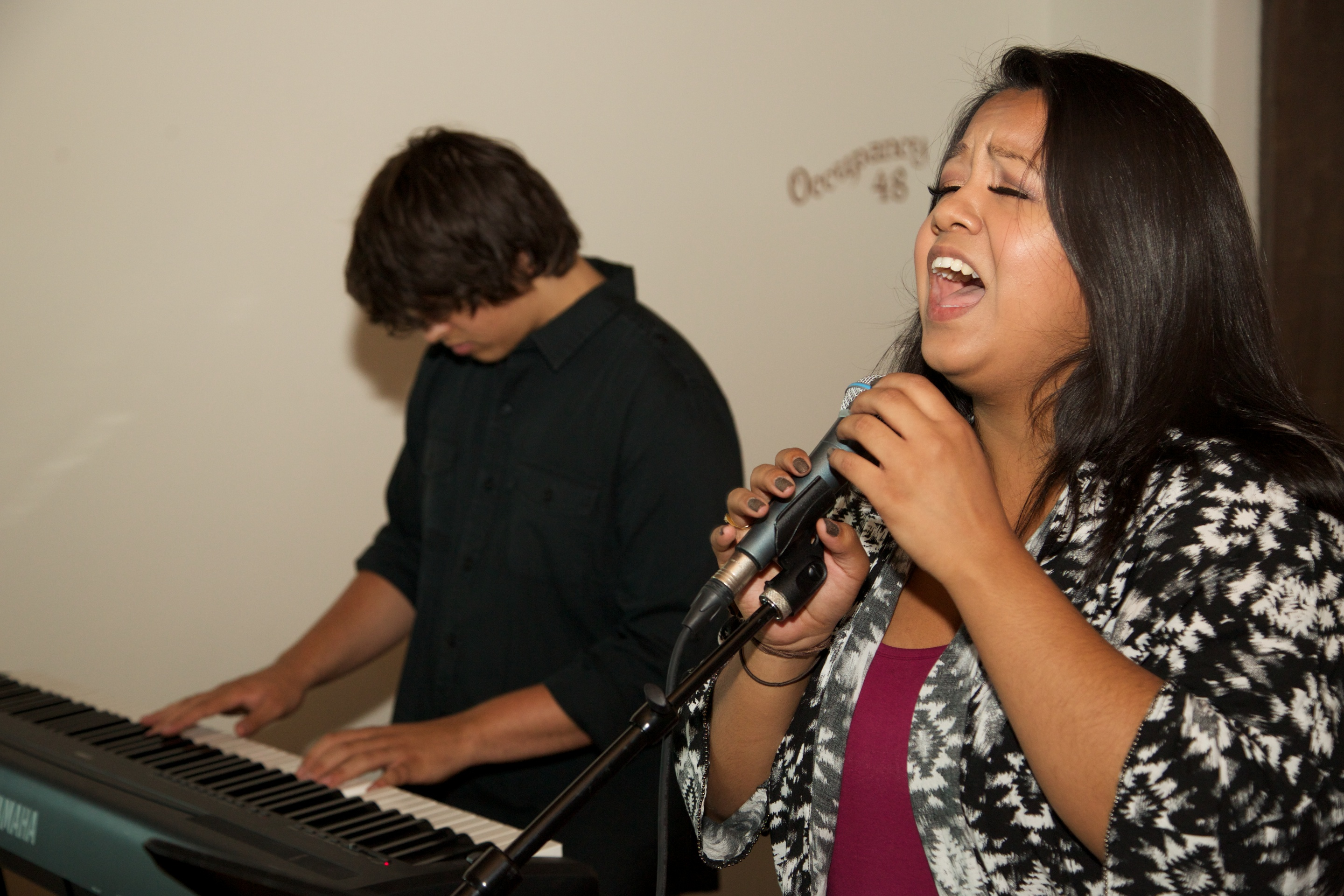 Singer at Mentorship Works Networking Event